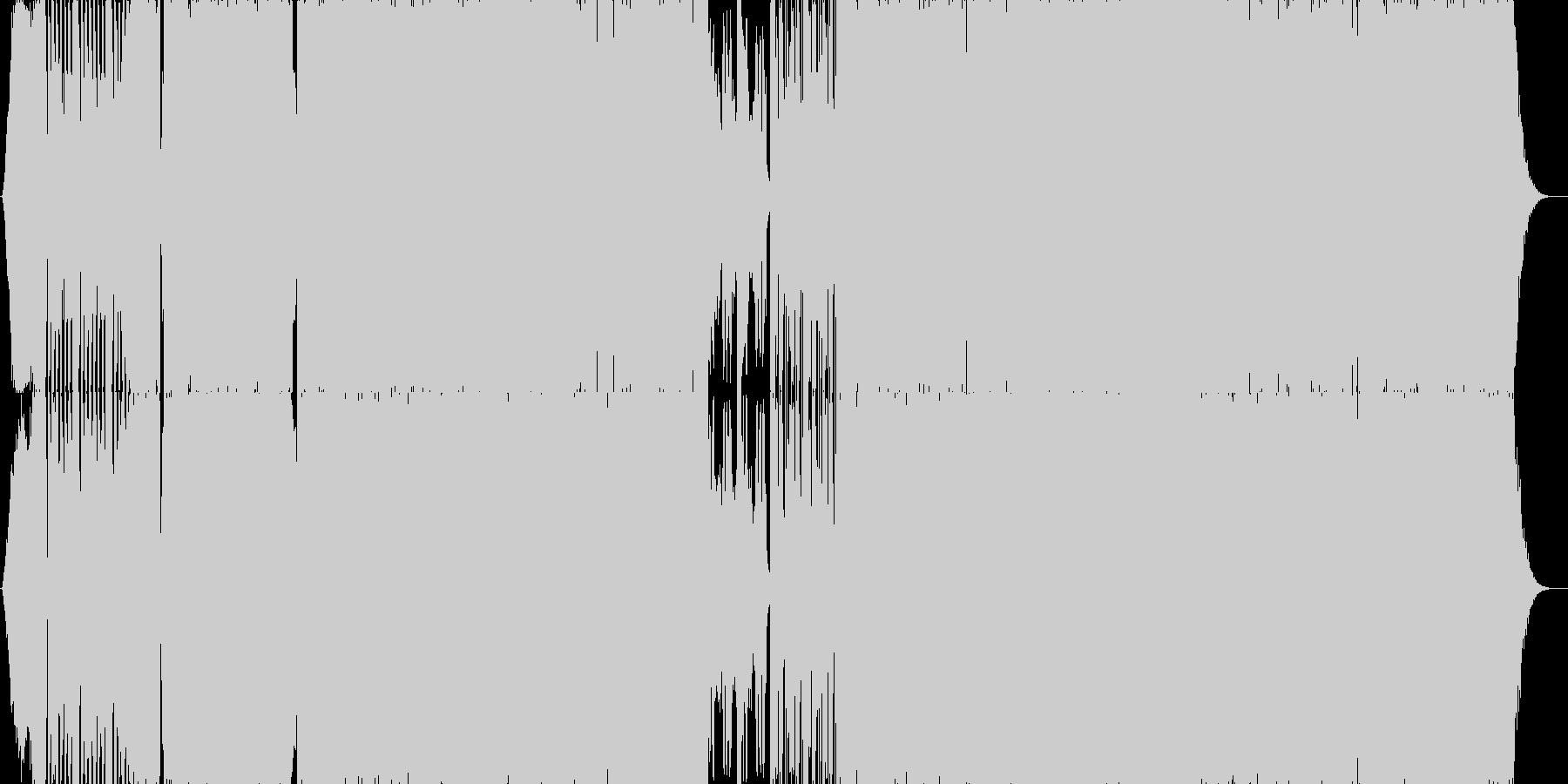 カオス感のあるEDM楽曲の未再生の波形