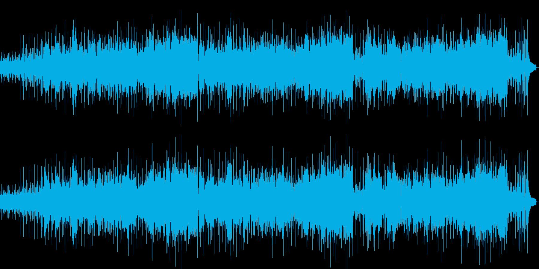 控えめな雰囲気のメロディアスな楽曲の再生済みの波形
