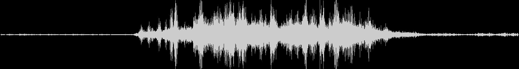 バイノーラル録音戦闘機8の未再生の波形