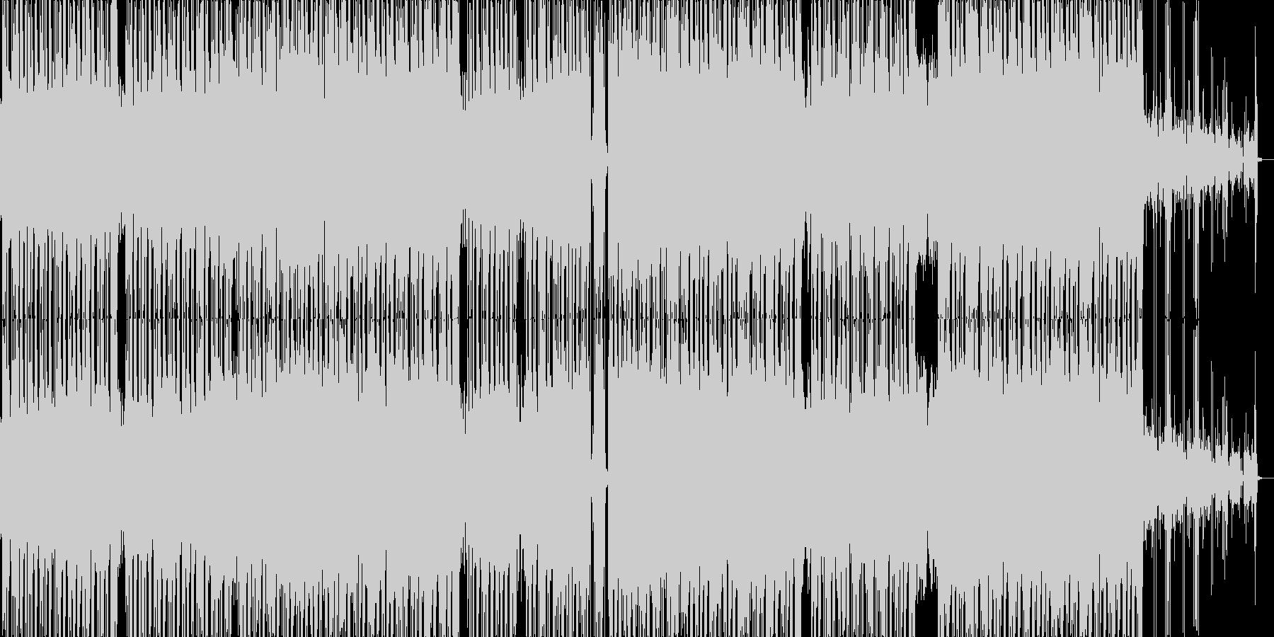 コミカルな雰囲気のR&B風のポップの未再生の波形