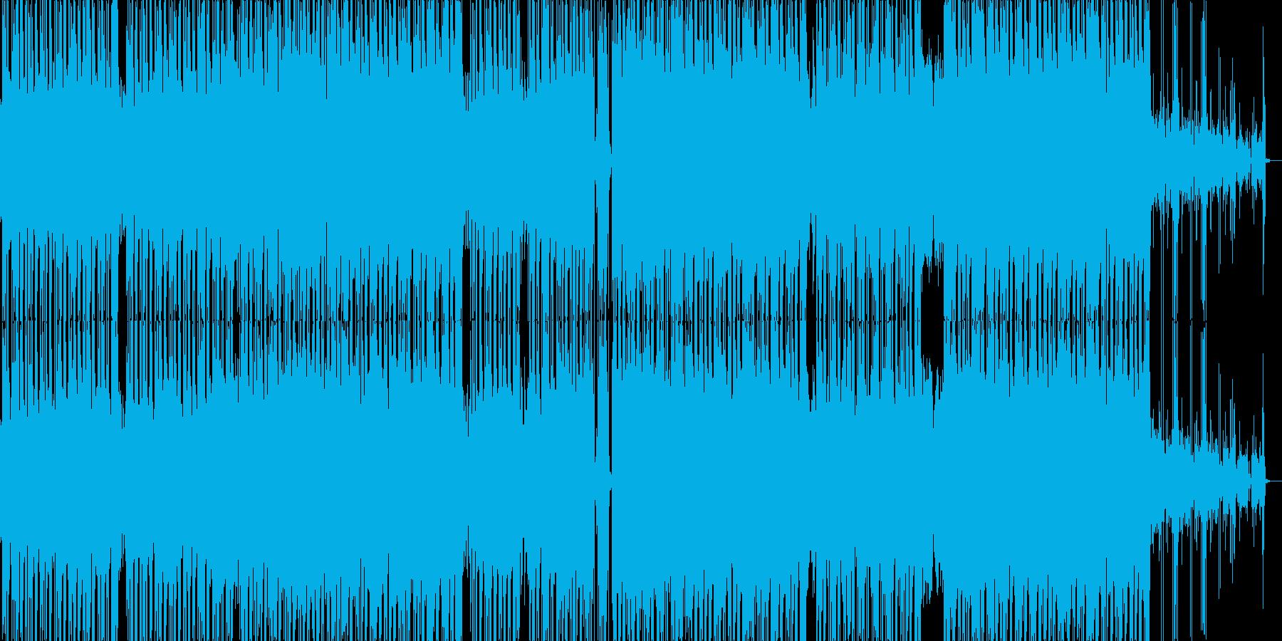 コミカルな雰囲気のR&B風のポップの再生済みの波形