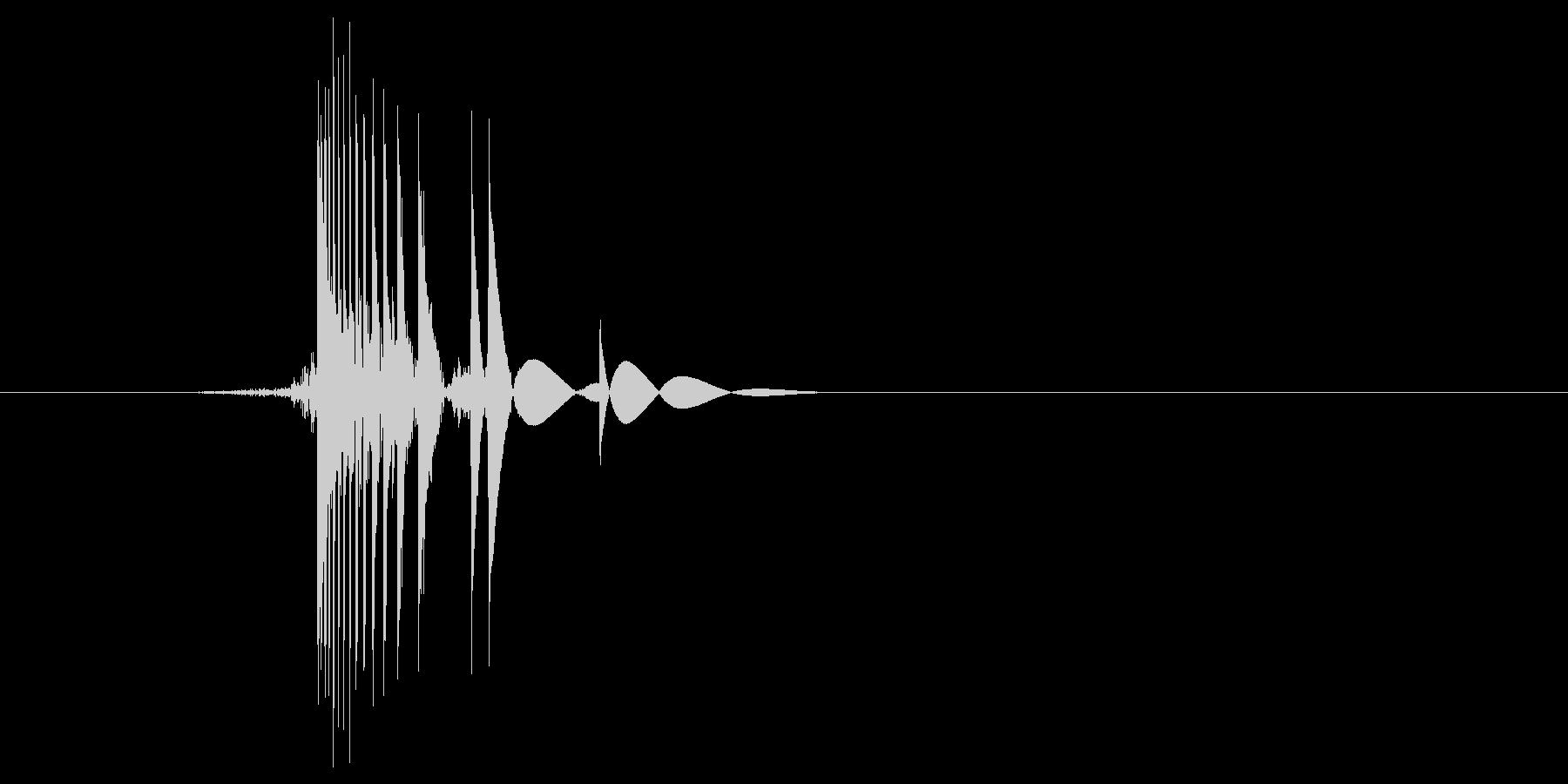ゲーム(ファミコン風)ヒット音_033の未再生の波形
