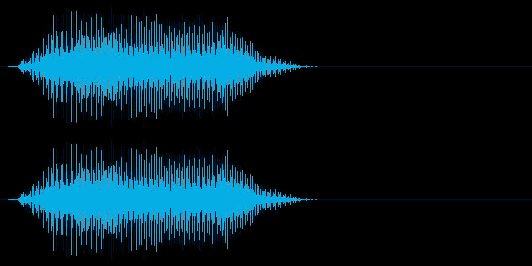 ひ弱なゾンビの発声に 3の再生済みの波形