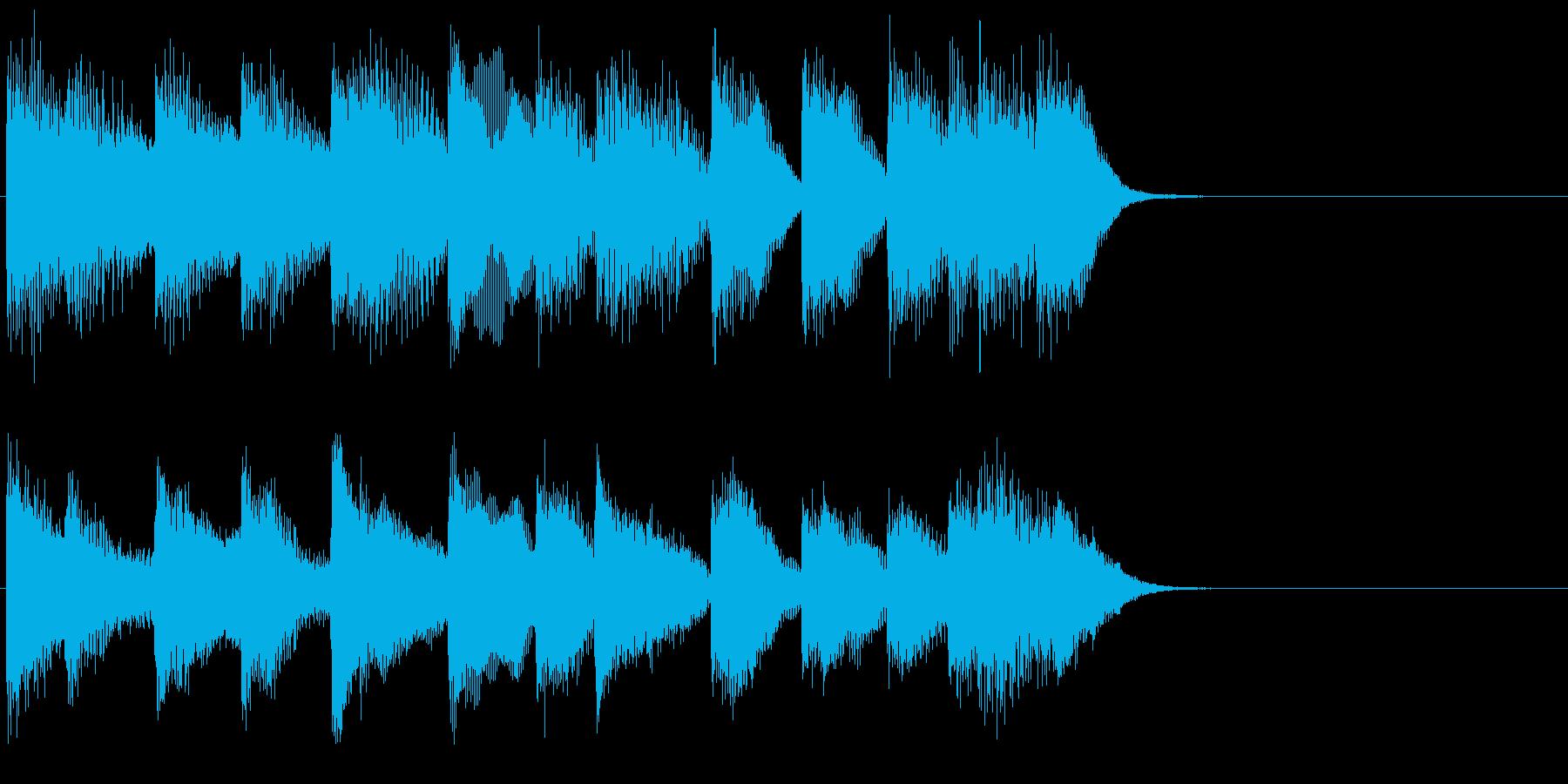 ピアノ ジングル02 明るいの再生済みの波形