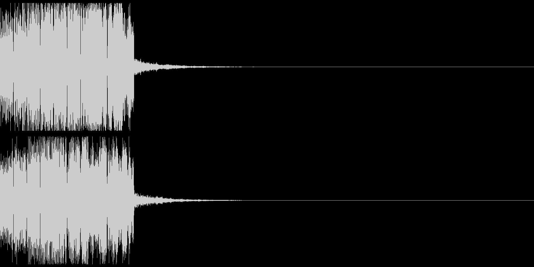 エンカウント音01の未再生の波形