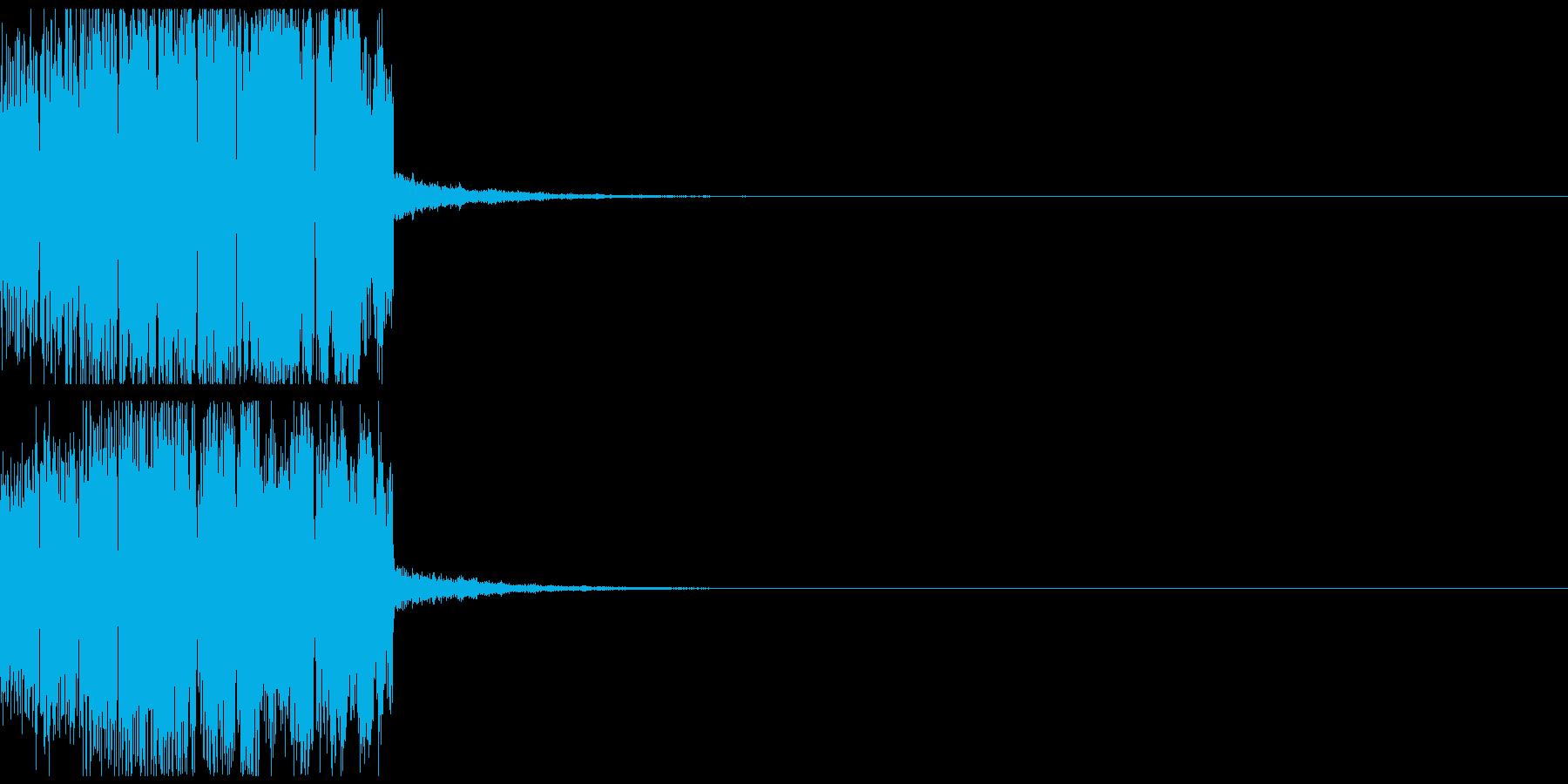 エンカウント音01の再生済みの波形
