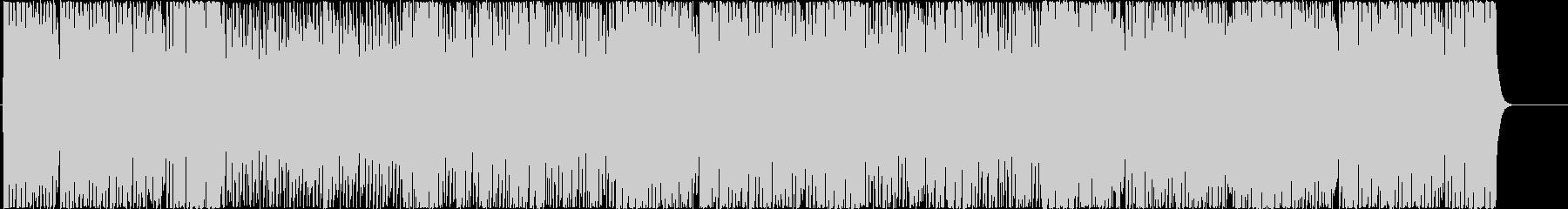 エネルギッシュで躍動感のあるBGMの未再生の波形