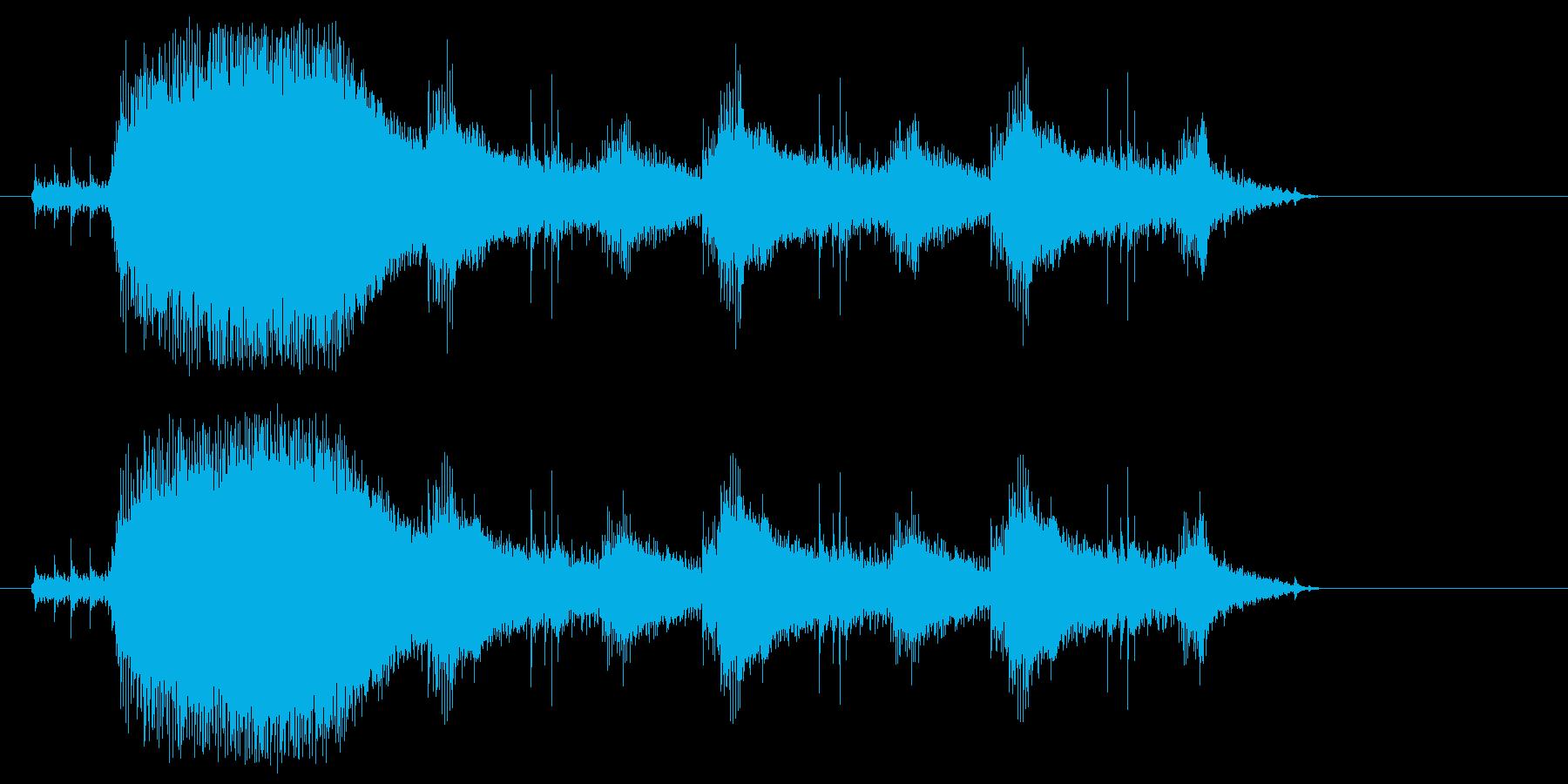 チェーンソーやバイクのエンジン音1の再生済みの波形