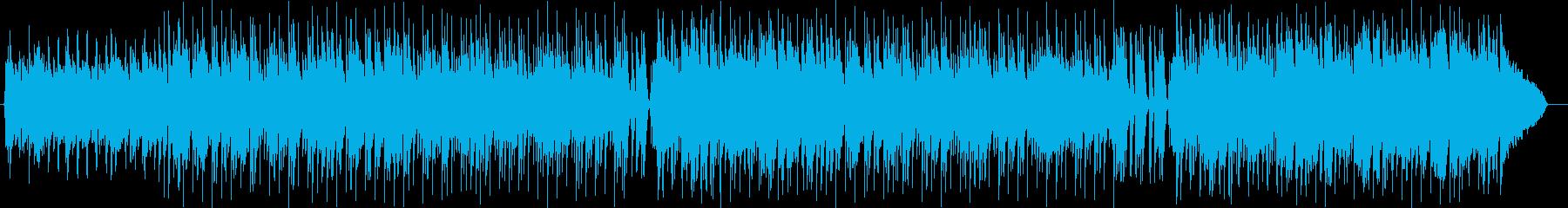 軽快でアップテンポの楽しい曲の再生済みの波形
