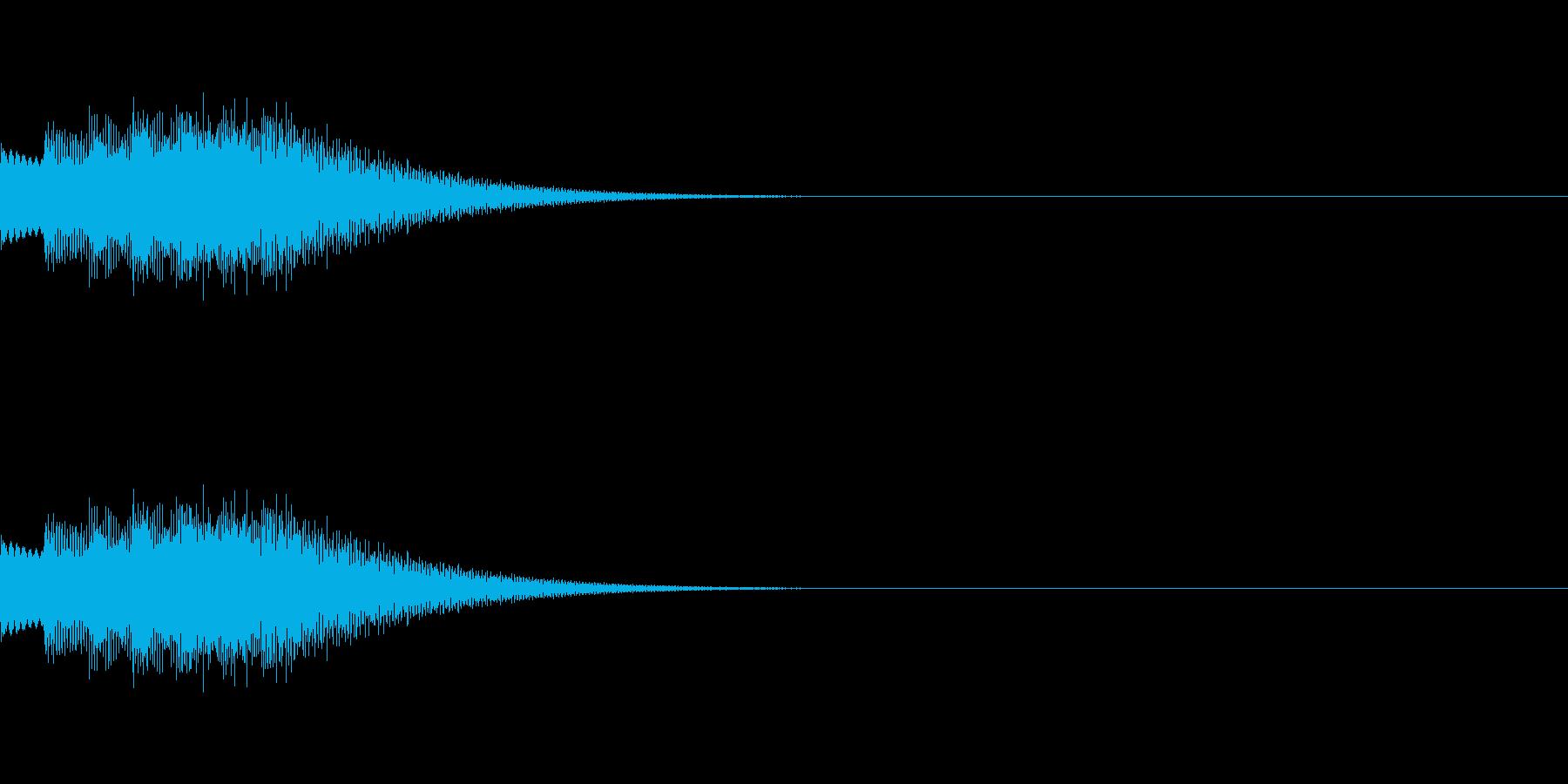 キラリンフレーズ01の再生済みの波形