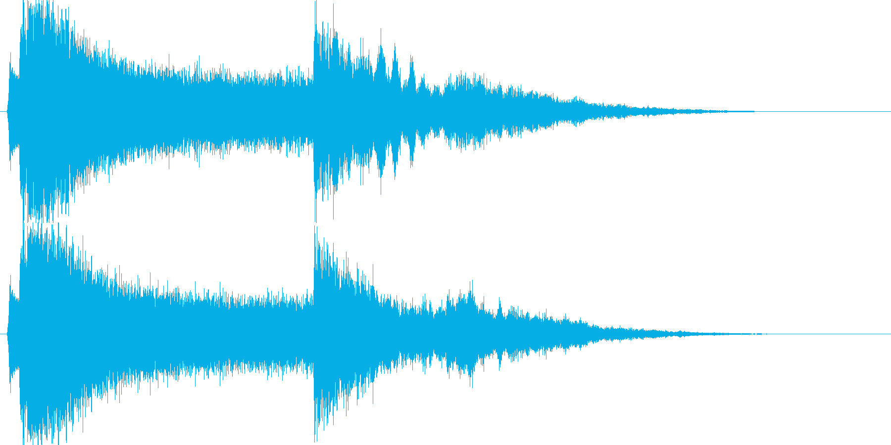 【ヒール】ゲームなどの魔法系効果音の再生済みの波形