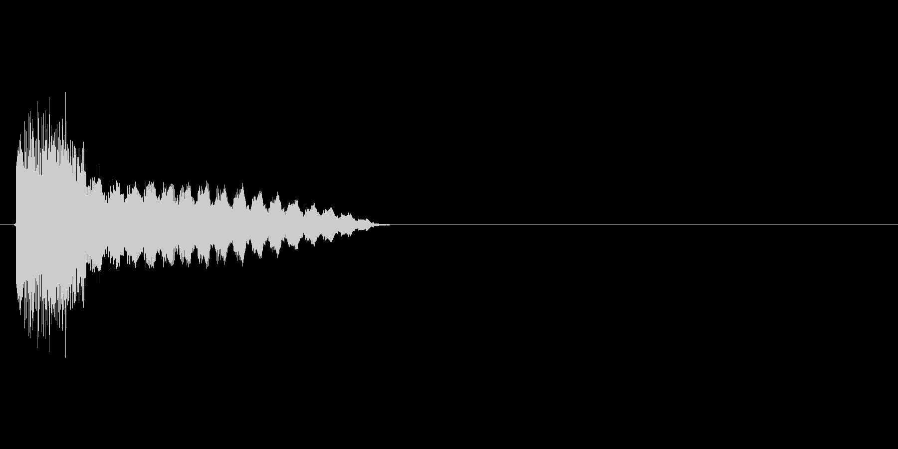 キュピーン(閃く、電球、発明)の未再生の波形