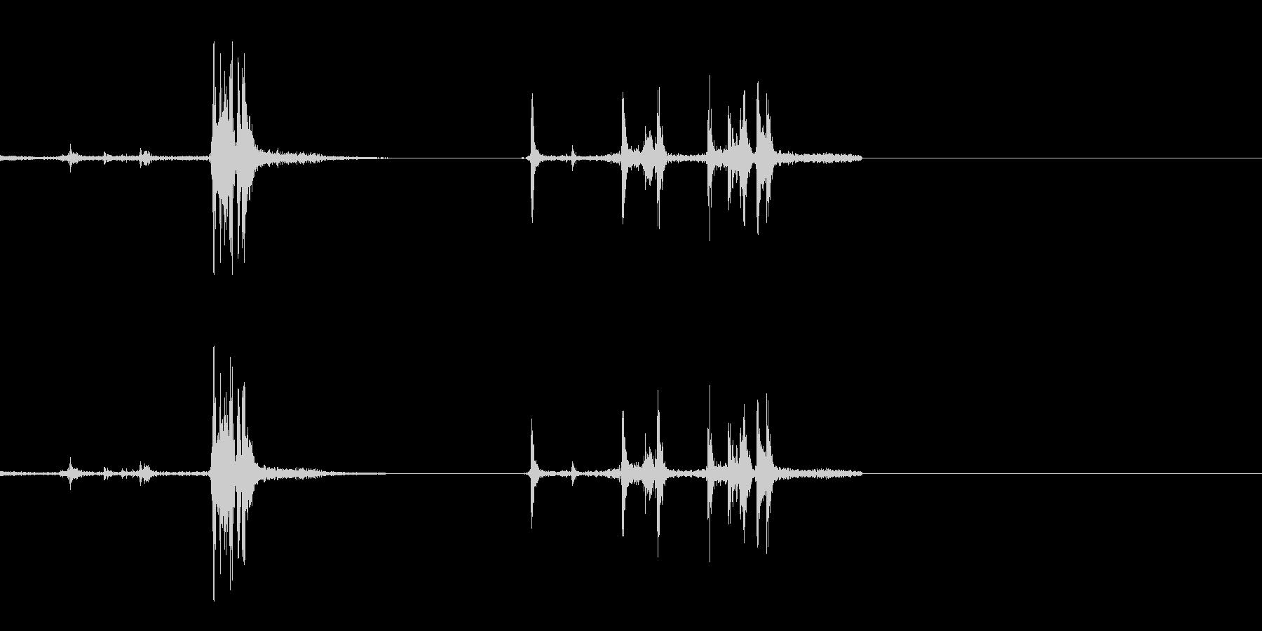 銃 リロード 2の未再生の波形