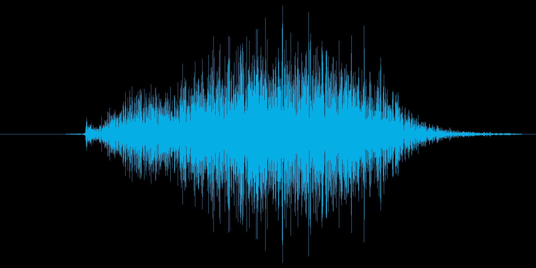 シャッ(黒板消し、スワイプ、学校)の再生済みの波形
