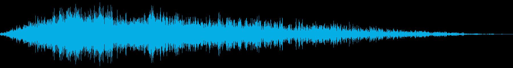 風魔法(風を圧縮した玉)の再生済みの波形