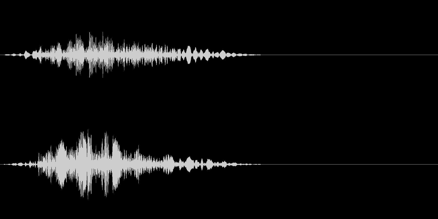 飛ぶ音の未再生の波形