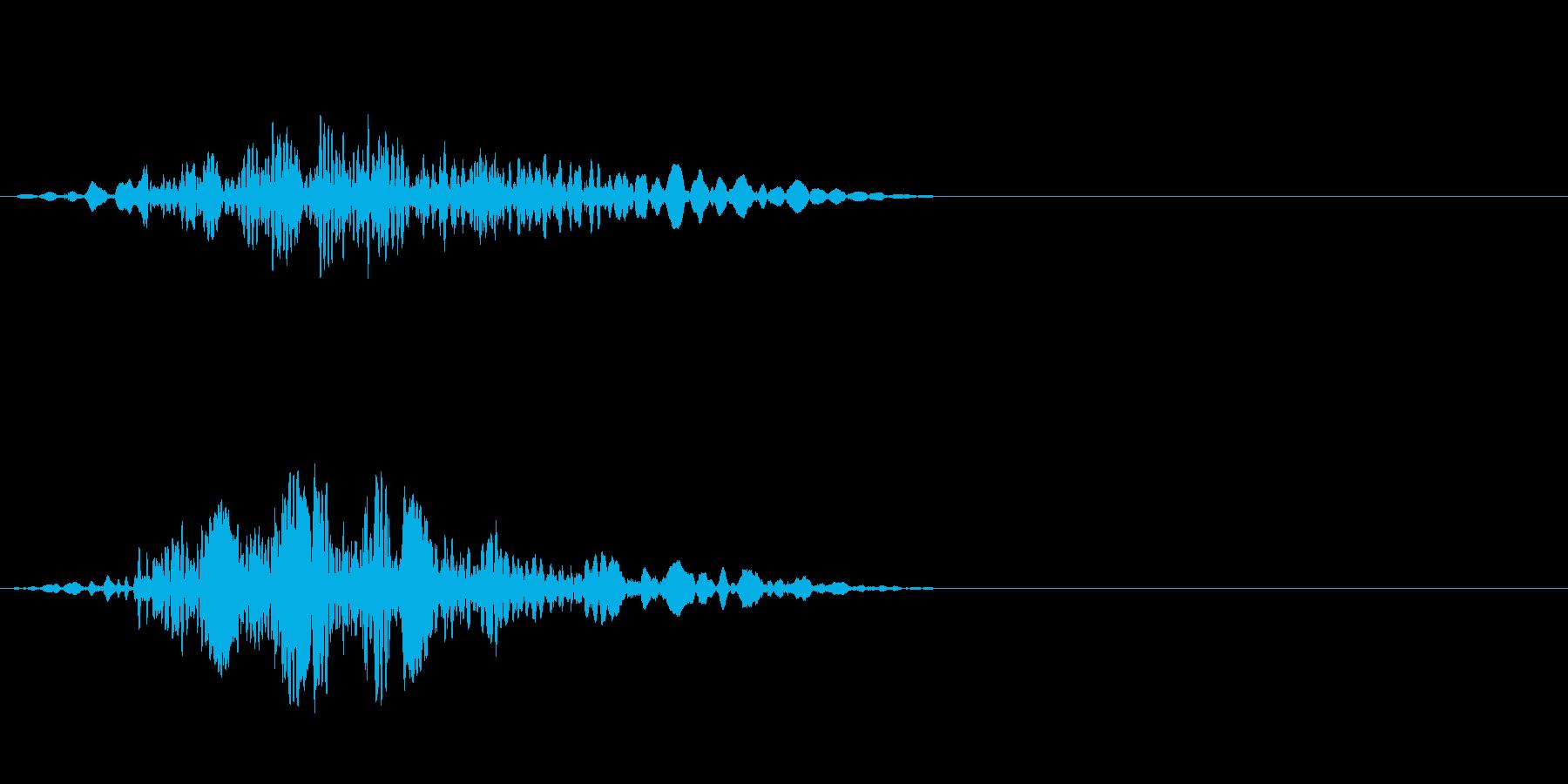 飛ぶ音の再生済みの波形