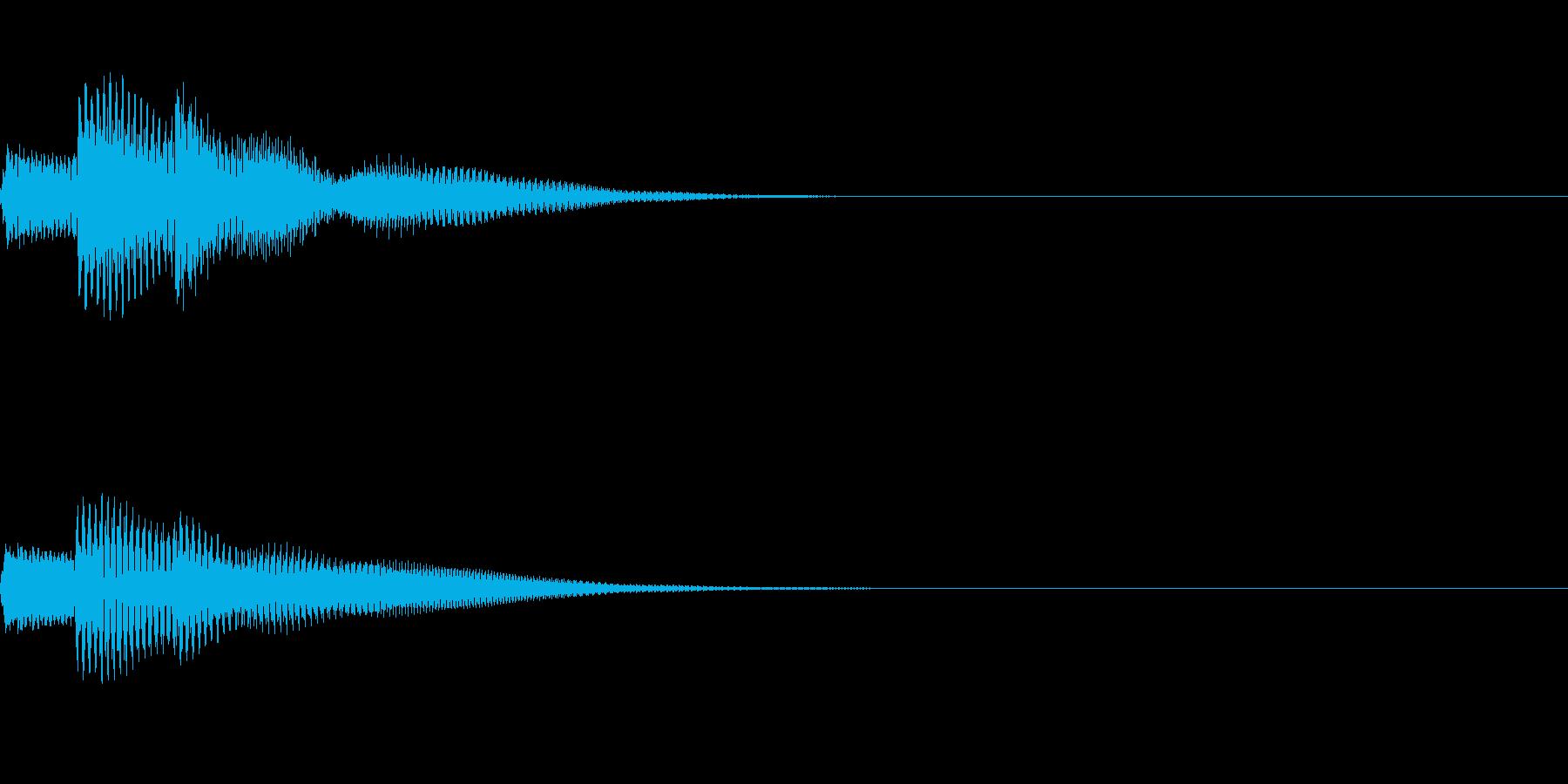カーソル文字決定音 文字 入力 爽快の再生済みの波形
