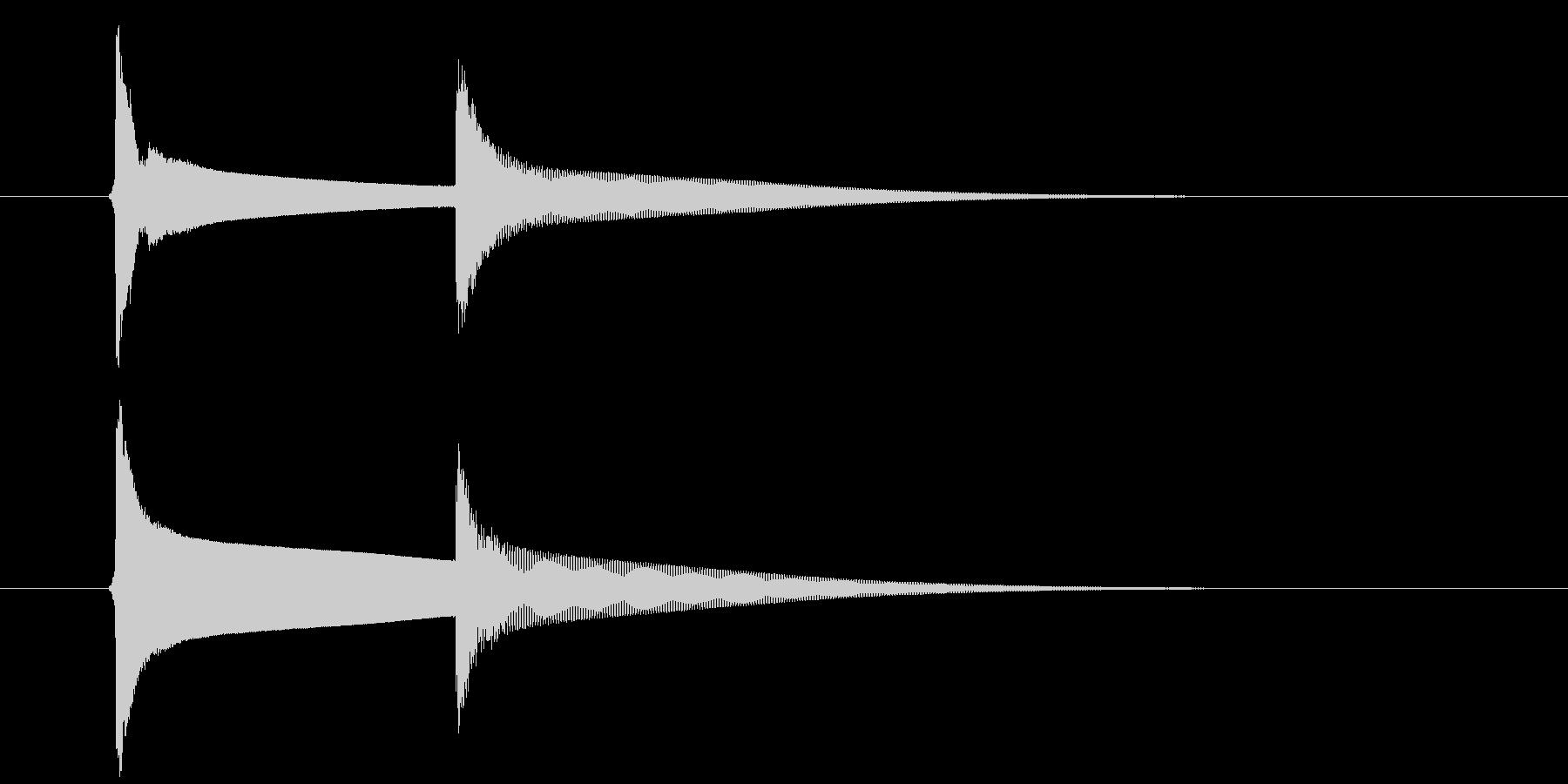 【生録音】ピンポーン(速度-遅め)の未再生の波形