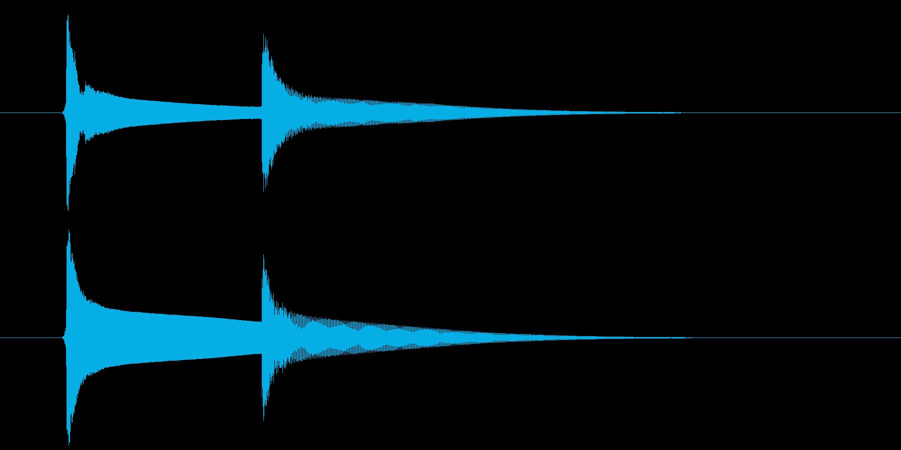 【生録音】ピンポーン(速度-遅め)の再生済みの波形