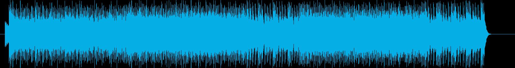 情熱的で躍動感溢れるワイルドロックの再生済みの波形