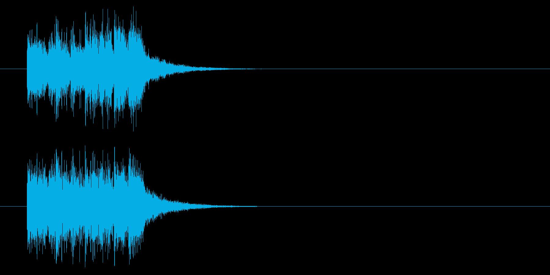 ジングル(ブラス入り)の再生済みの波形