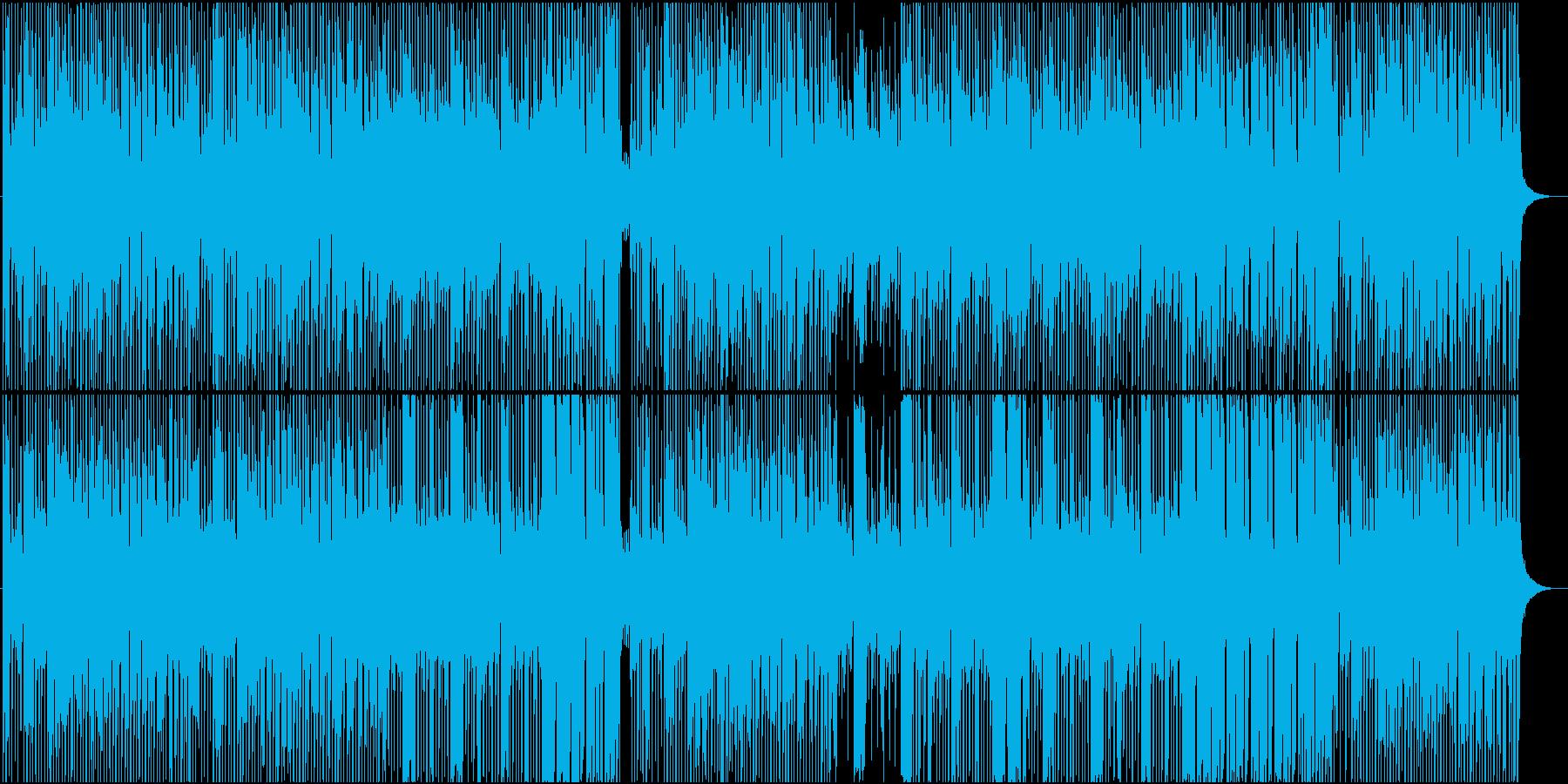コミカル軽快子供小動物向けBGMの再生済みの波形