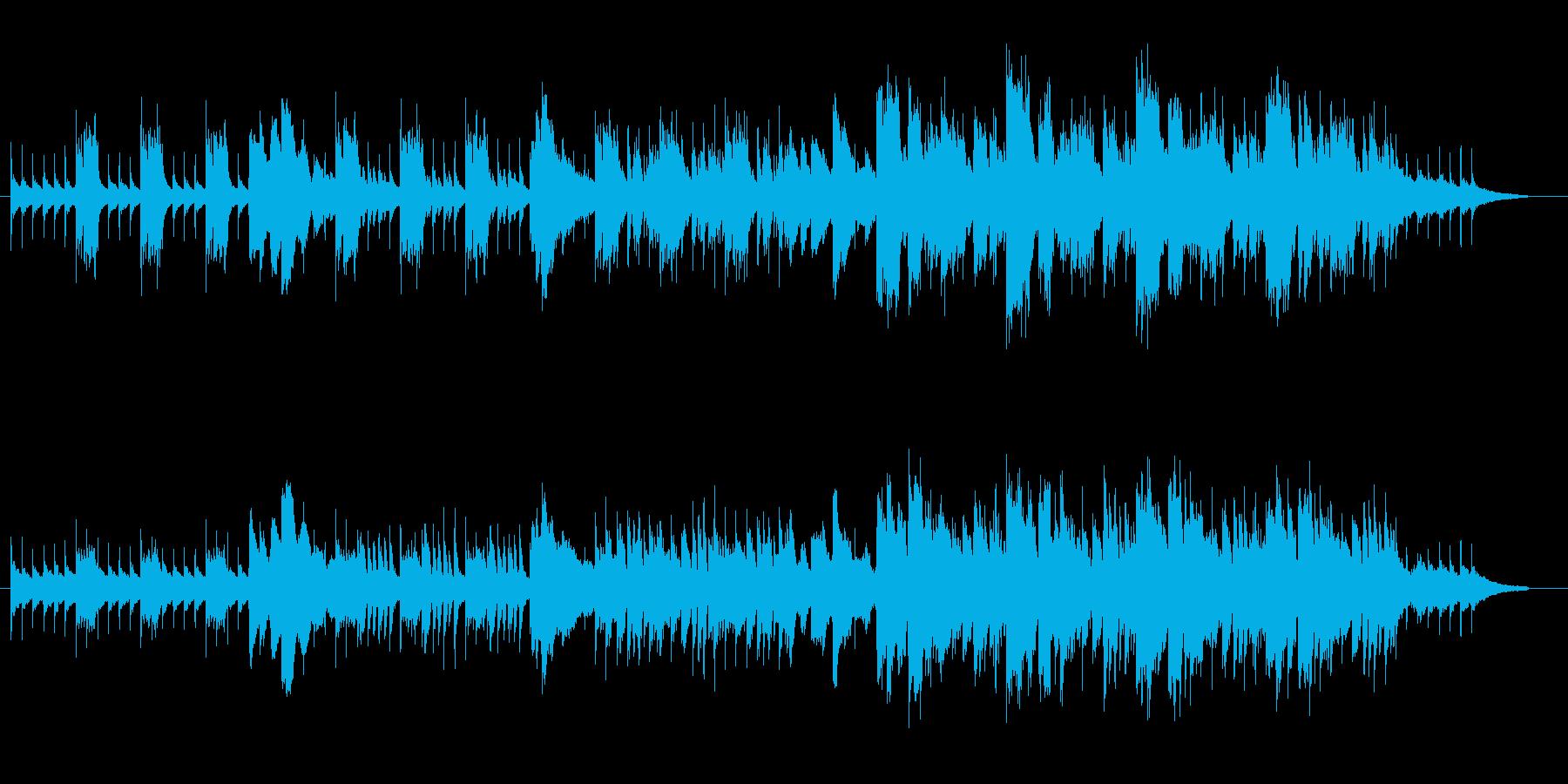ミニマル的なアプローチのBGMの再生済みの波形