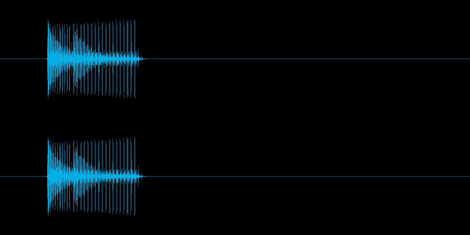 短いボタン音です。アラーム音など、警告…の再生済みの波形