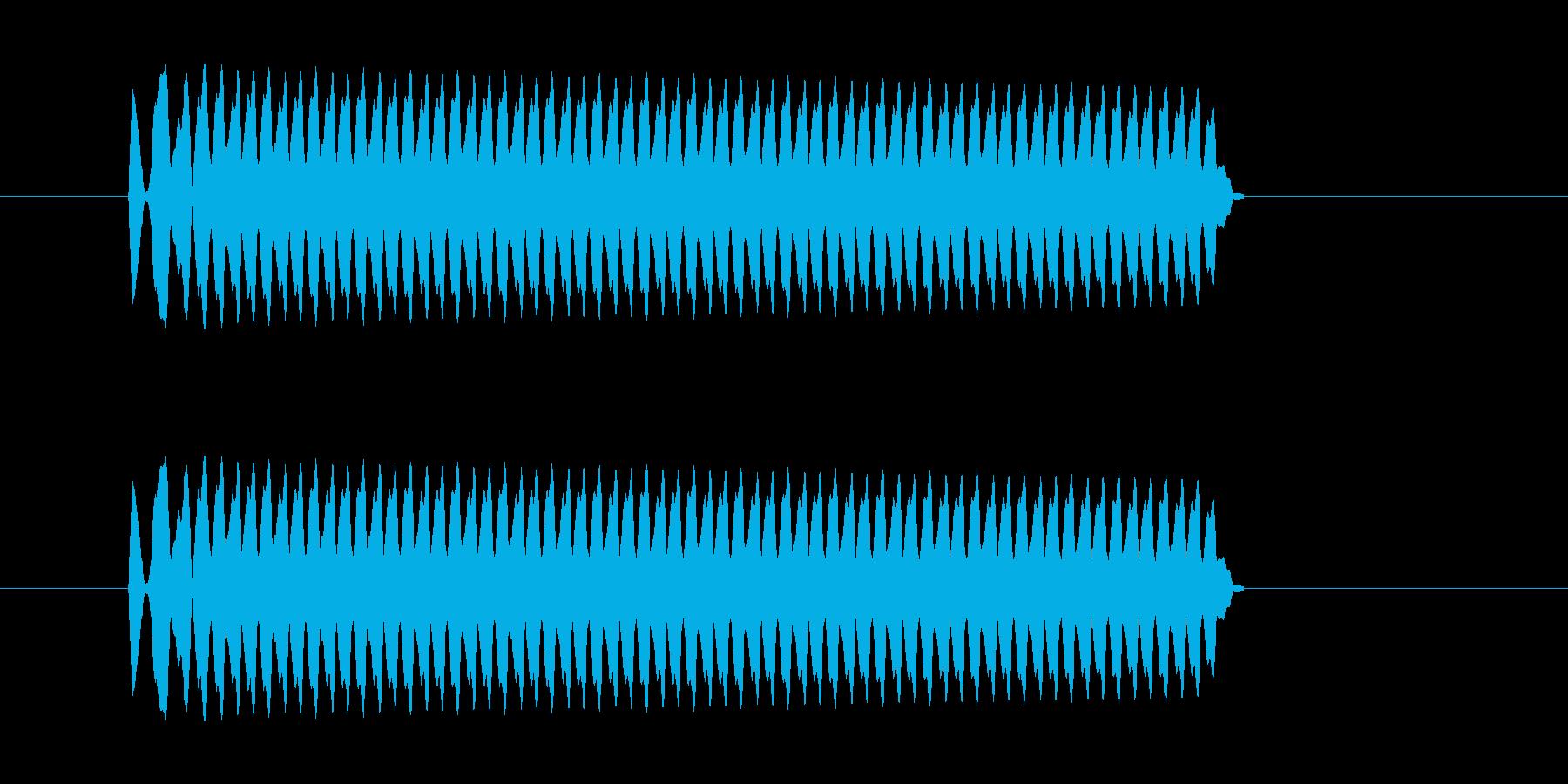 「ピー (ホイッスルの音)」の再生済みの波形