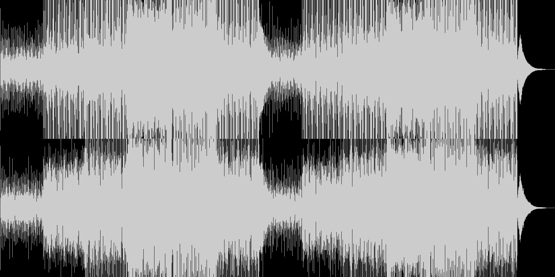 プログレッシブハウスのインストの未再生の波形