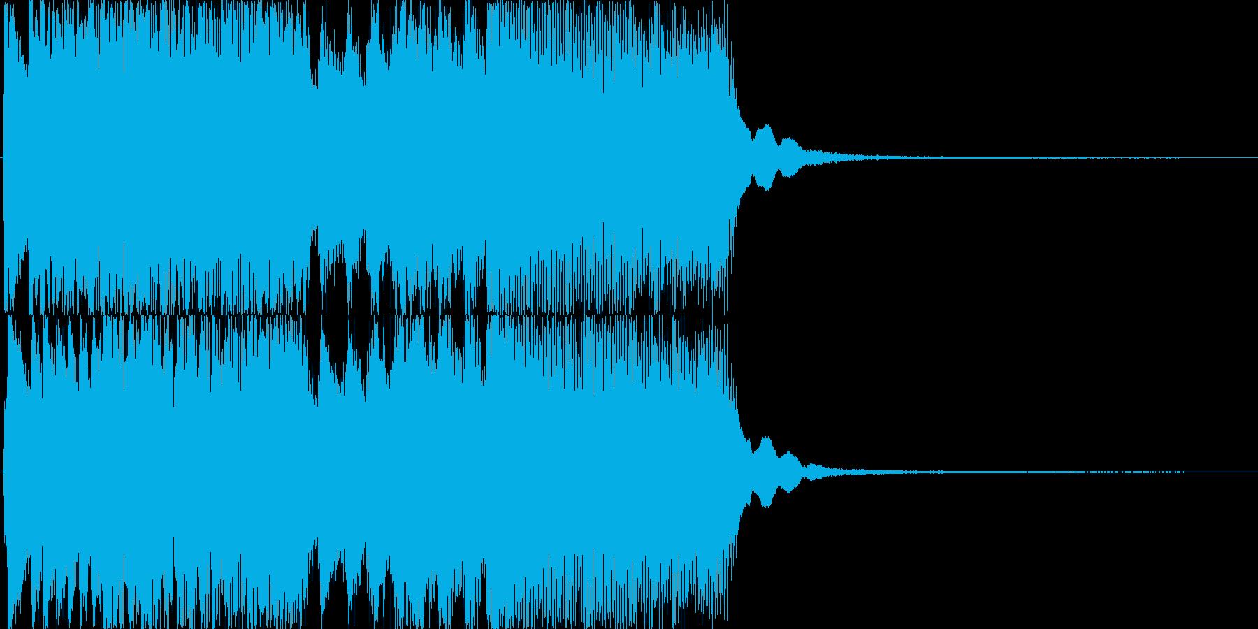 和風、勢いのある大人登場ジングル/掛声の再生済みの波形