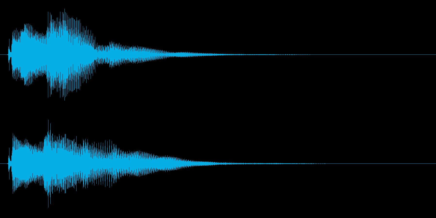 決定ボタンを押した時などの効果音。の再生済みの波形