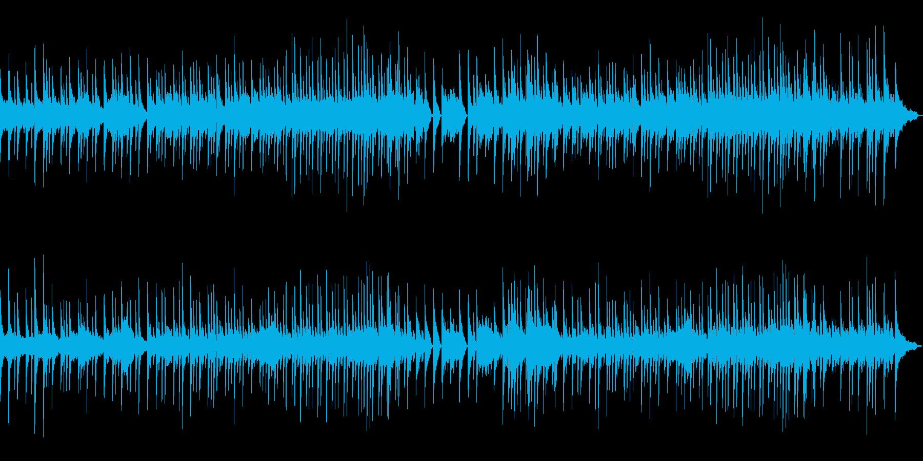 静かな海をイメージしたBGMの再生済みの波形
