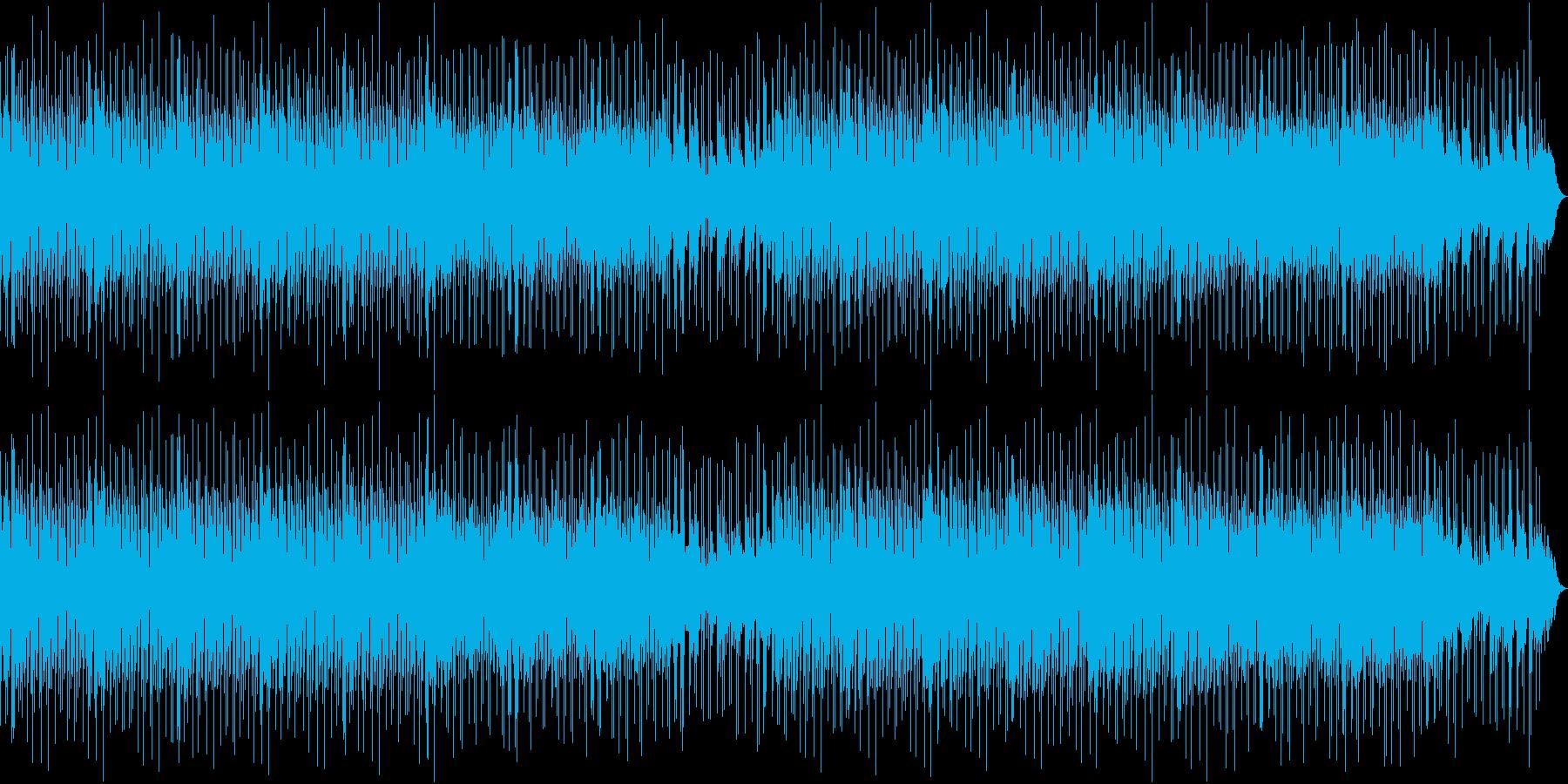 ゆったりした雰囲気のポップスの再生済みの波形
