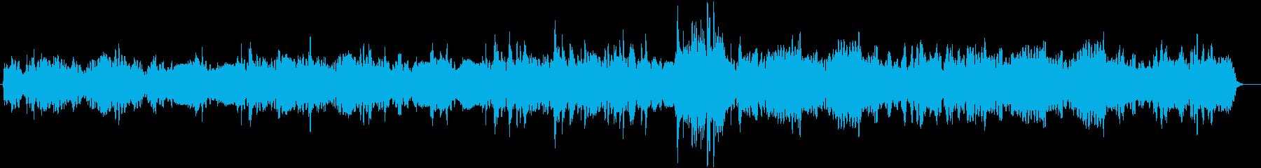 フルートメインのほのぼの日常系BGMの再生済みの波形