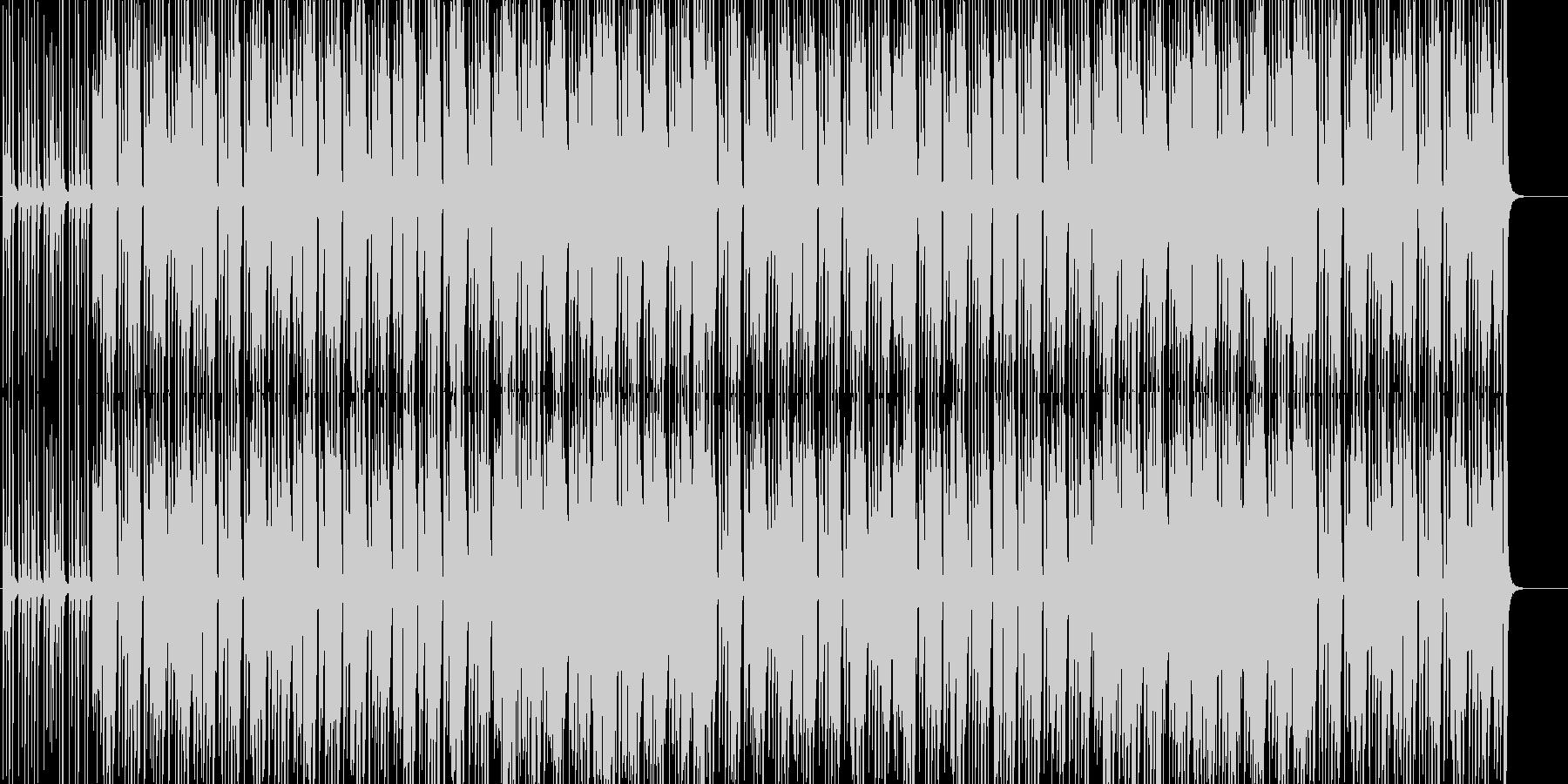 朗らかな休日を描いたいきいきポップスの未再生の波形