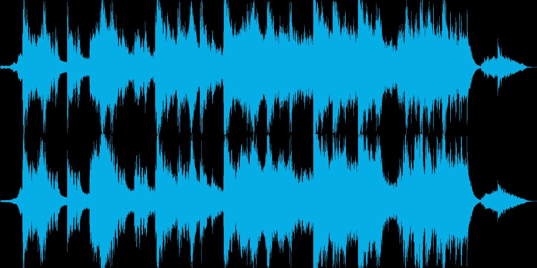 強力な追手に追いつめられるイメージの曲の再生済みの波形