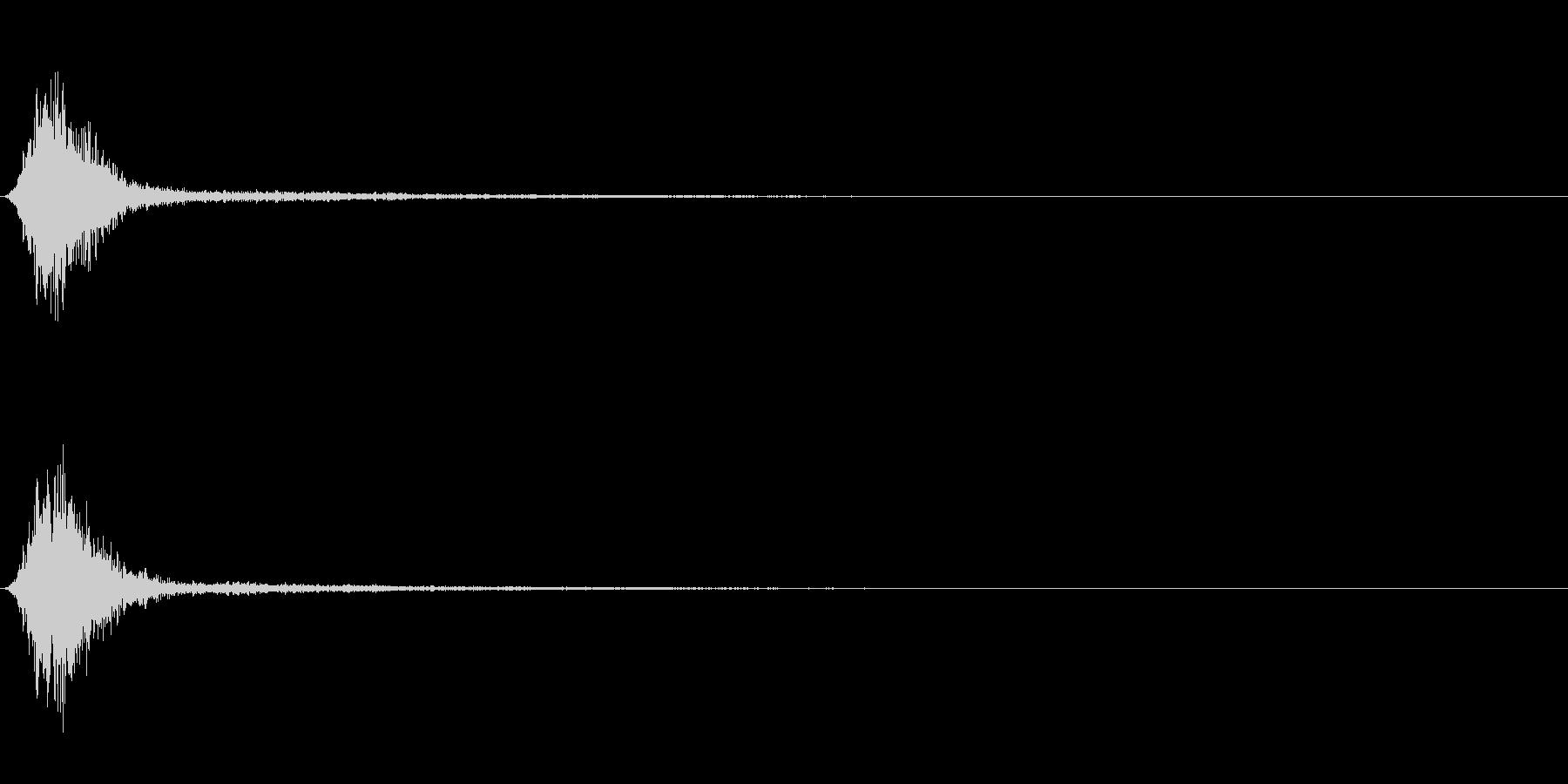 Ninjya 忍者 クナイ攻撃SE 10の未再生の波形