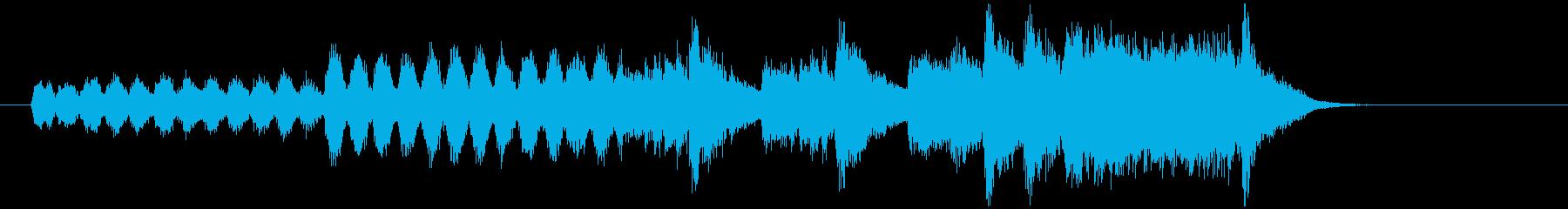 始まりのイメージのファンファーレの再生済みの波形