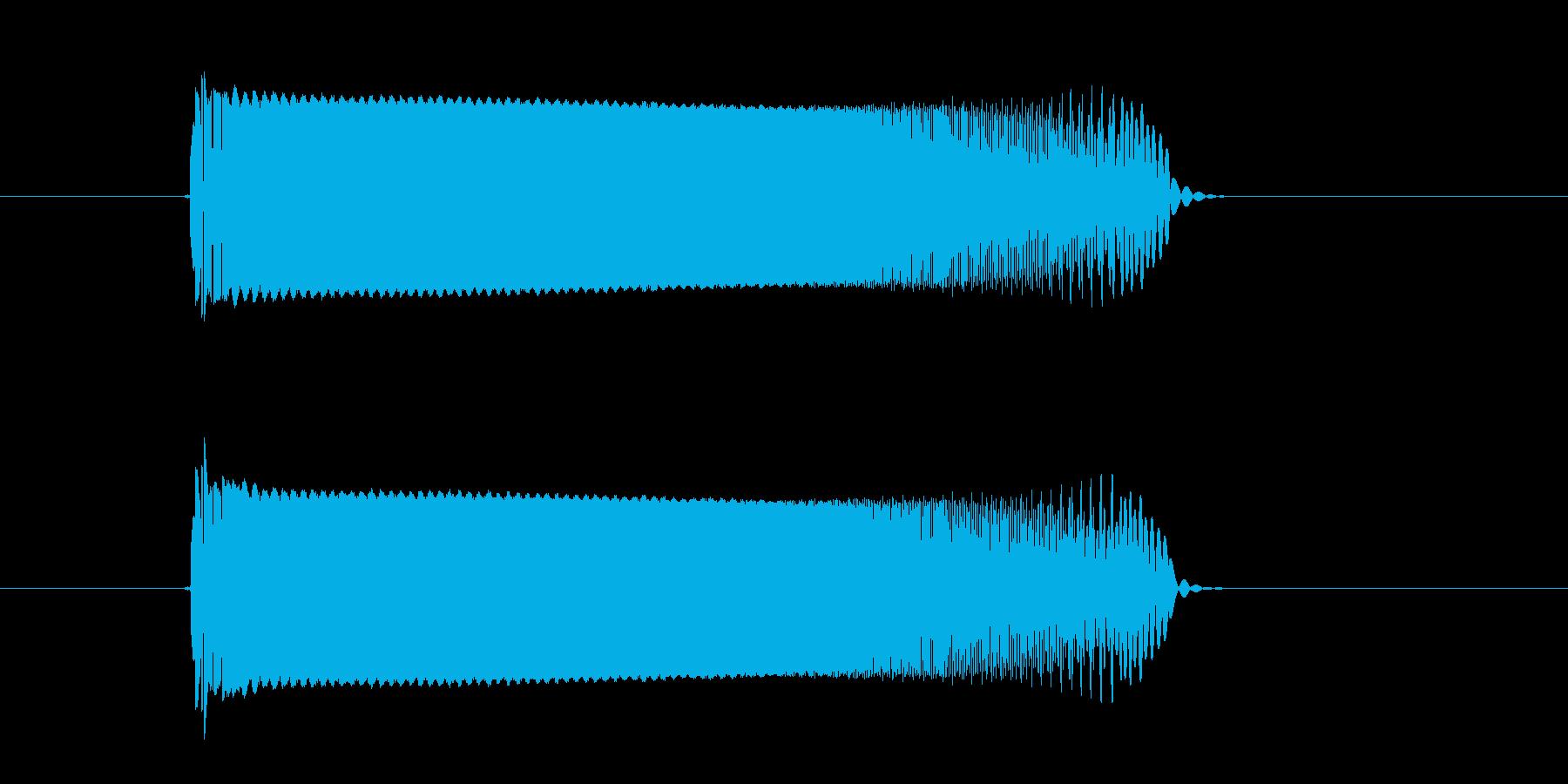 チューーーン!SF系電子音の再生済みの波形