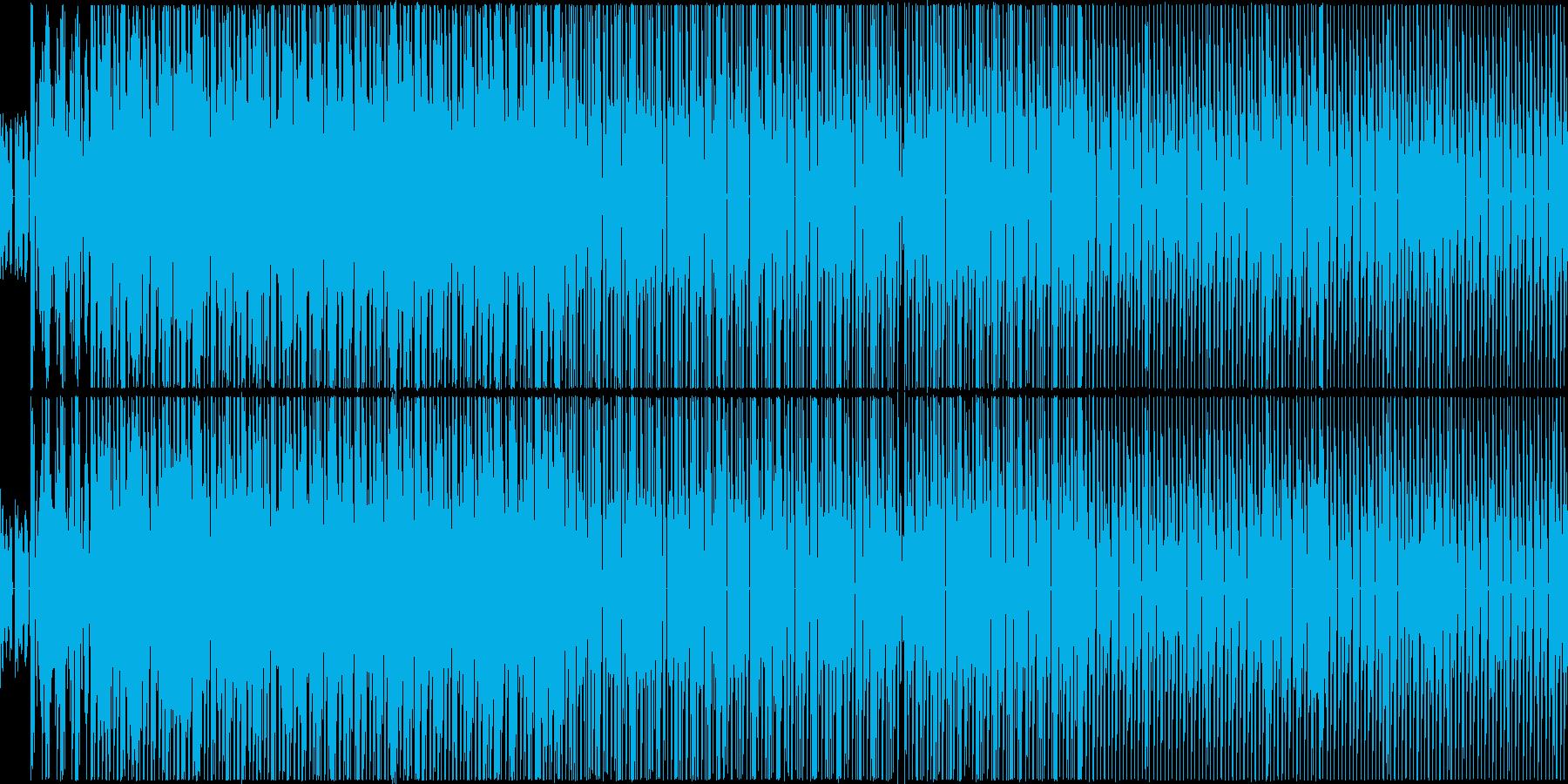 戦闘音楽っぽい曲ですの再生済みの波形