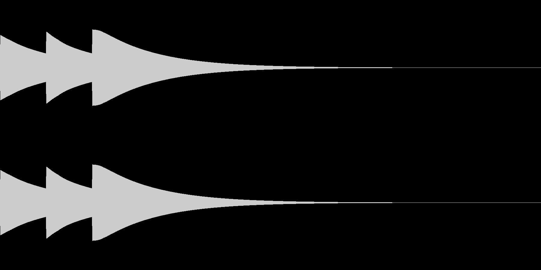 ベル/ポポポン/システム/金属/3の未再生の波形