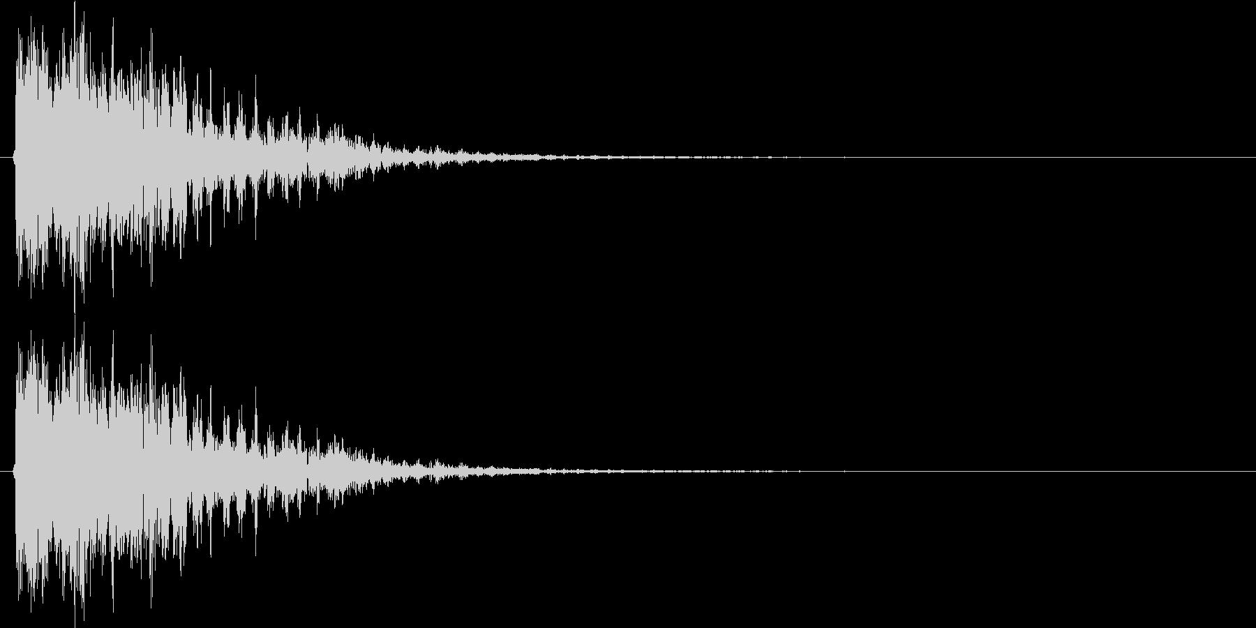 ドピューン(レーザーガン発射音)Bの未再生の波形