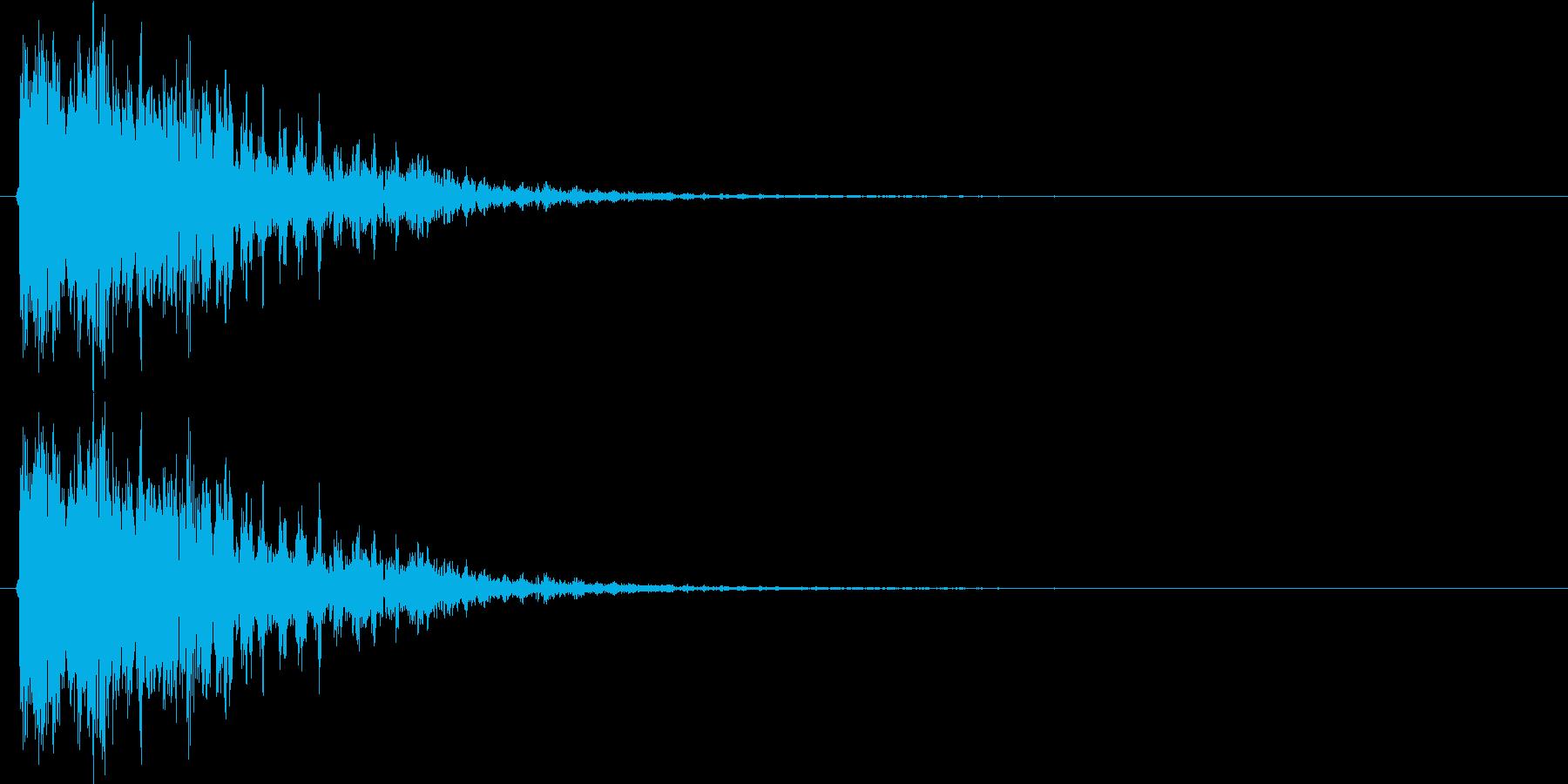 ドピューン(レーザーガン発射音)Bの再生済みの波形