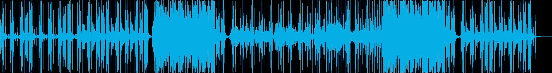 スローテンポなギターサウンドの再生済みの波形