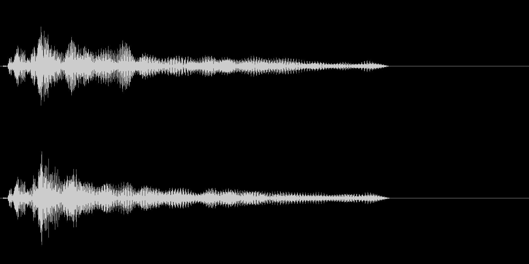 ピャーゥ(妨害系魔法SE)の未再生の波形