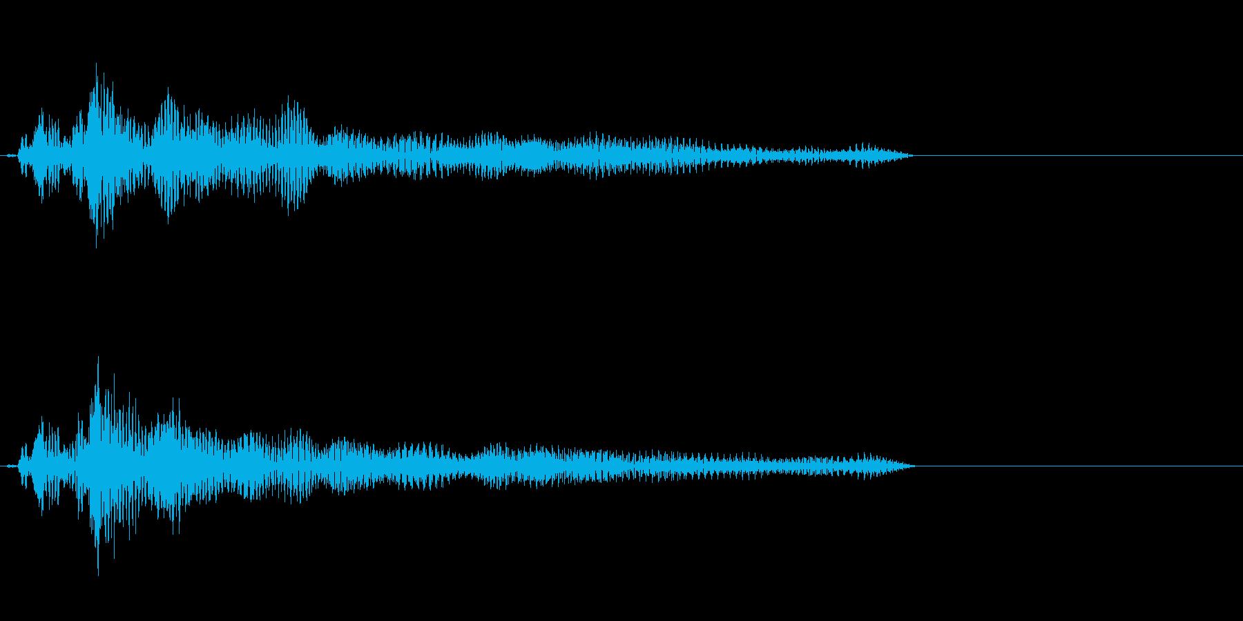 ピャーゥ(妨害系魔法SE)の再生済みの波形