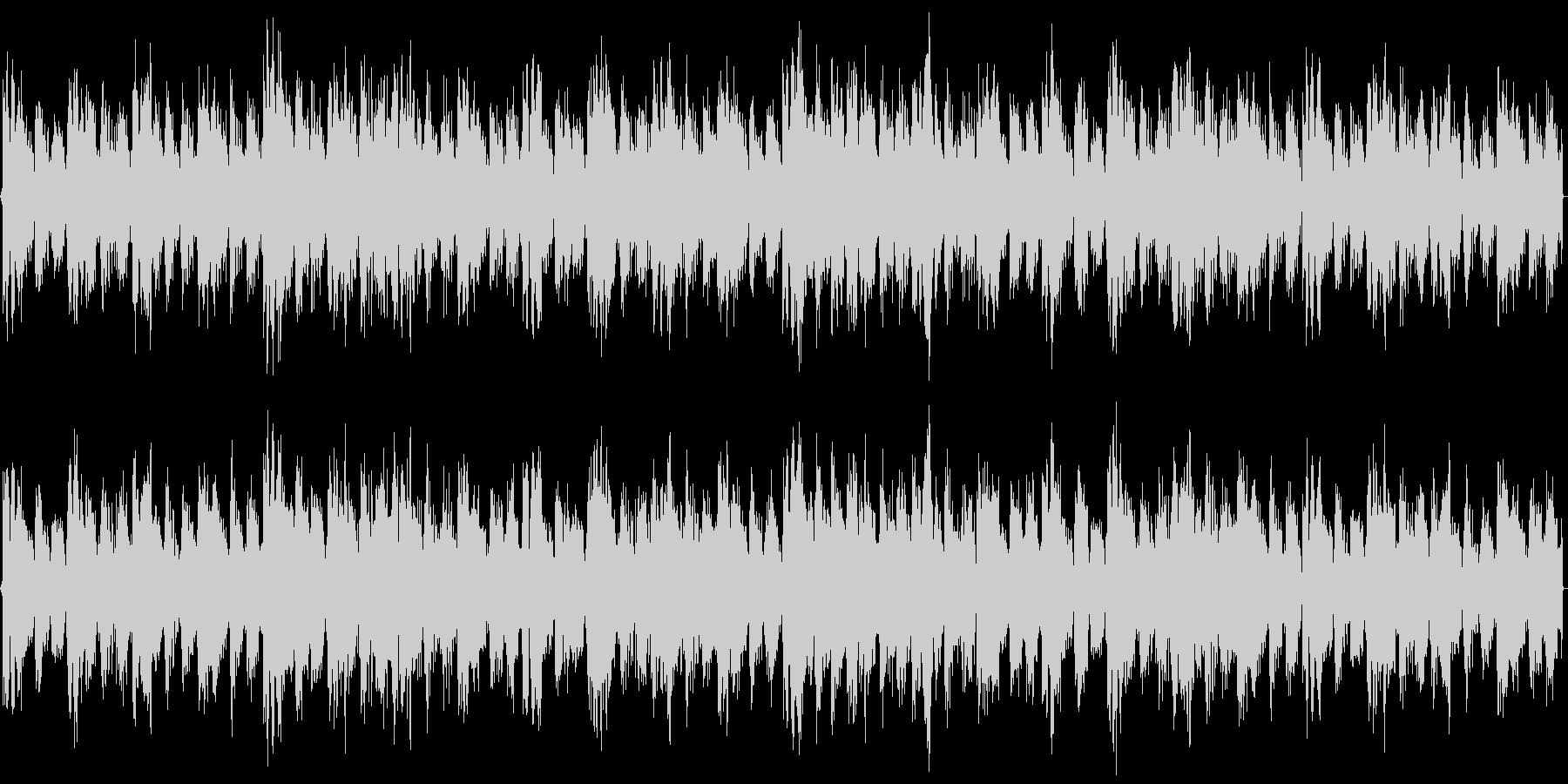 クラブのBGMを想定したパワフルな楽曲の未再生の波形