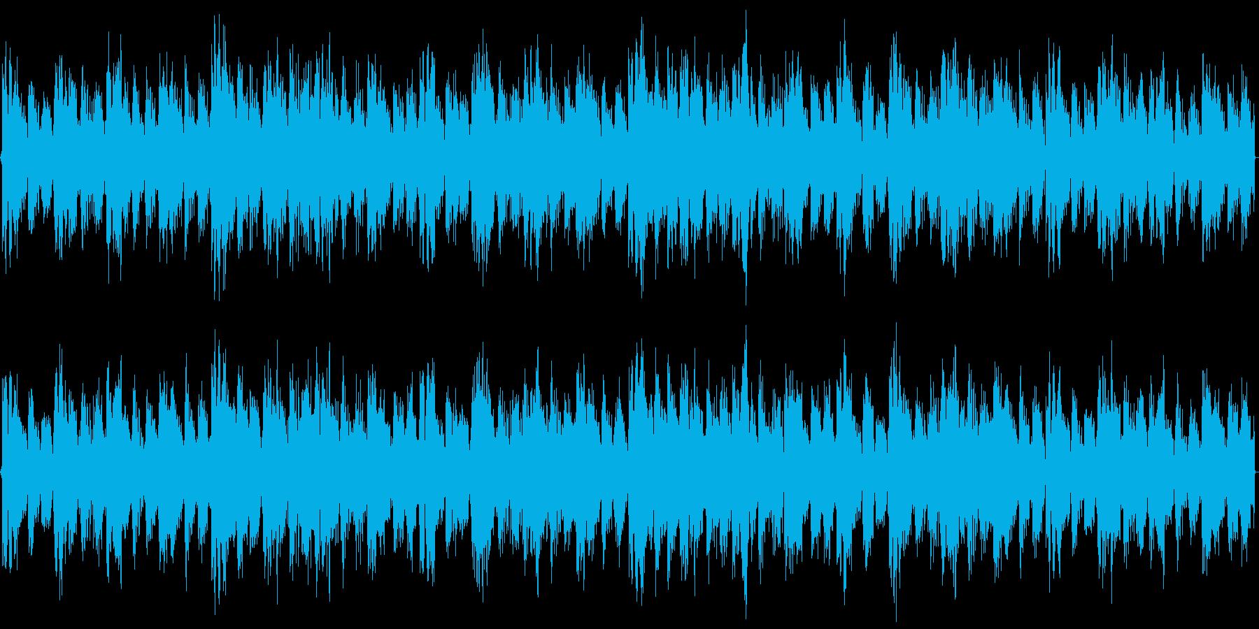 クラブのBGMを想定したパワフルな楽曲の再生済みの波形